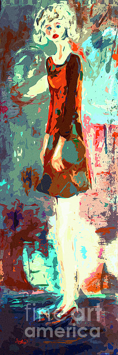 Abstract Figure The Odd Girl By Ginette Print by Ginette Callaway