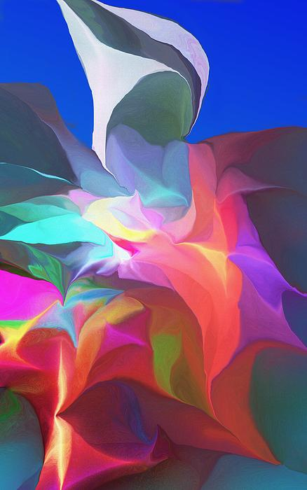 Abstract Floral Arrangement Digital Art