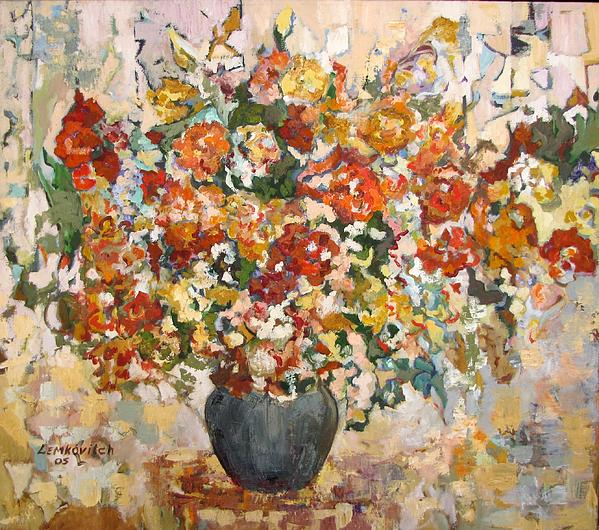 Liubov Meshulam Lemkovitch - Abstract flowers