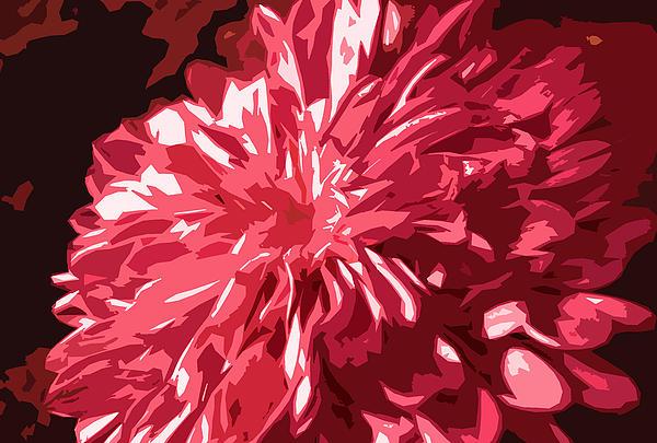 Abstract Flowers Print by Sumit Mehndiratta