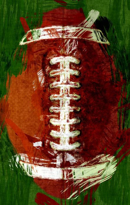 Abstract Football Print by David G Paul