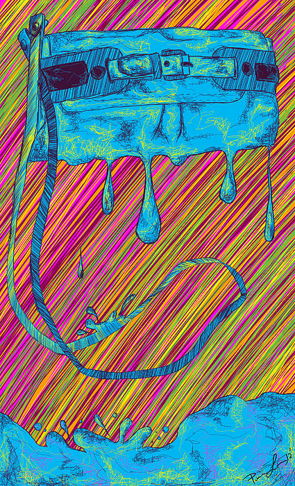 Abstract Handbag Drips Color Print by Kenal Louis