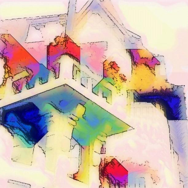 Abstract House In France Photograph  - Abstract House In France Fine Art Print