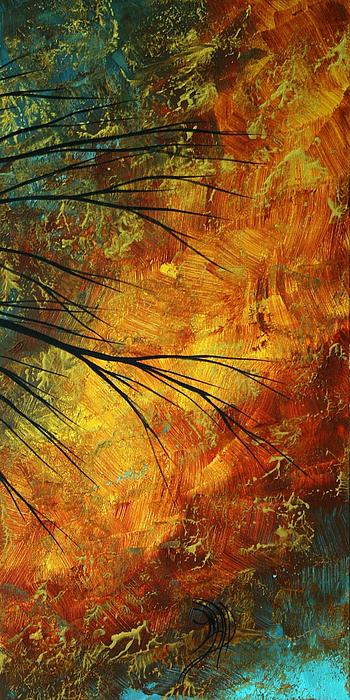 Abstract Landscape Art Passing Beauty 5 Of 5 Print by Megan Duncanson