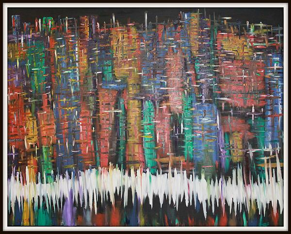 Abstract New York Print by Joanna Georghadjis