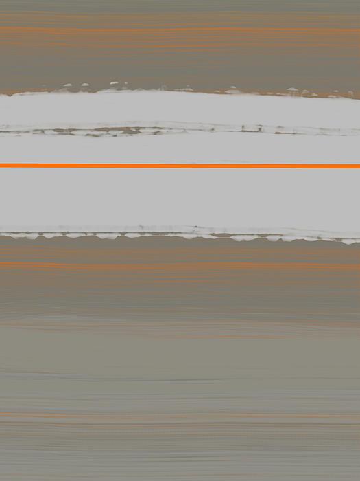 Abstract Orange 4 Print by Naxart Studio
