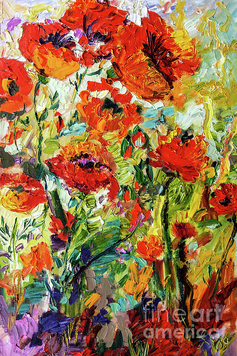 Ginette Fine Art LLC Ginette Callaway - Abstract Red Poppies