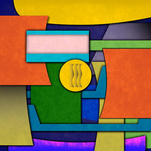 Abstract Shapes Color One Print by Gary Grayson