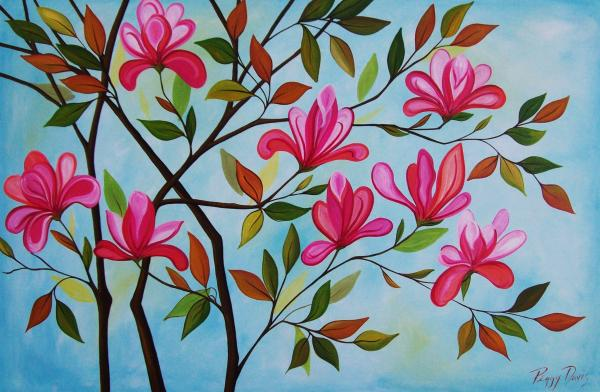 Peggy Bowie Davis - Abstract Tulip Tree