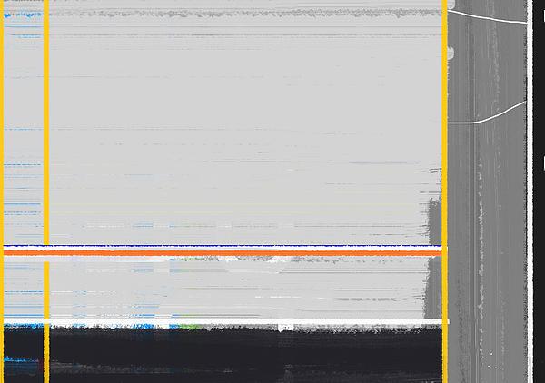 Abstract Yellow Print by Naxart Studio