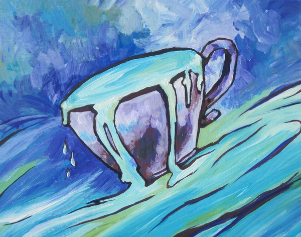 Abundance - My Cup Runneth Over Print by Sandy Tracey