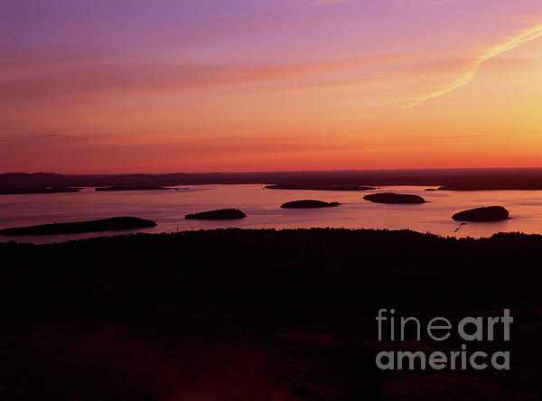 Acadia National Park Maine - Frenchman Bay Print by Erin Paul Donovan