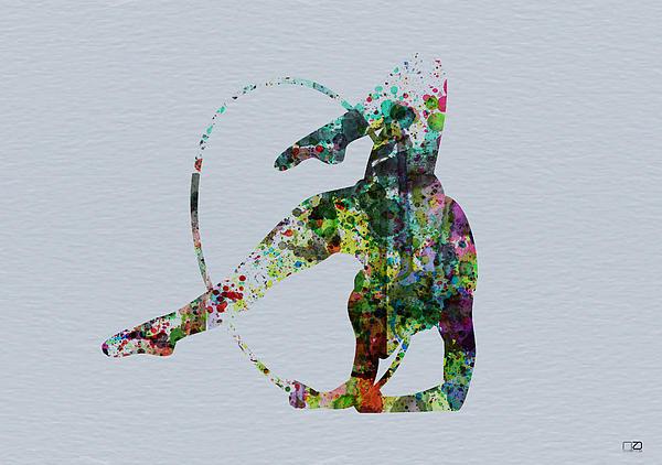 Acrobatic Dancer Print by Naxart Studio