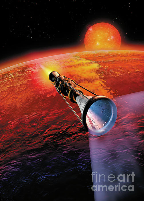 Across The Sea Of Suns Print by Don Dixon
