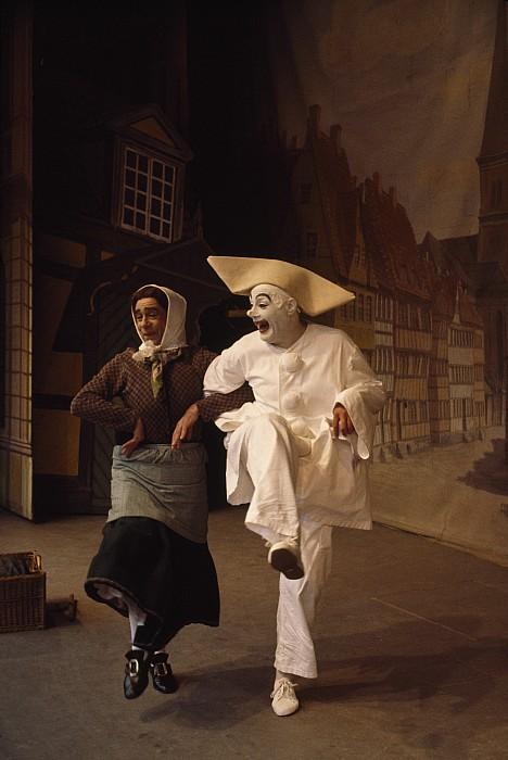 Actors Perform Pantomimes At Tivoli Print by Sisse Brimberg