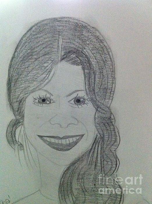 Actress Zoe S. Print by Charita Padilla