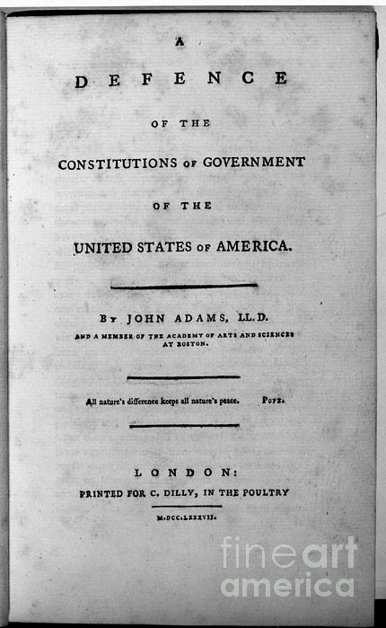 Adams: Title Page, 1787 Print by Granger