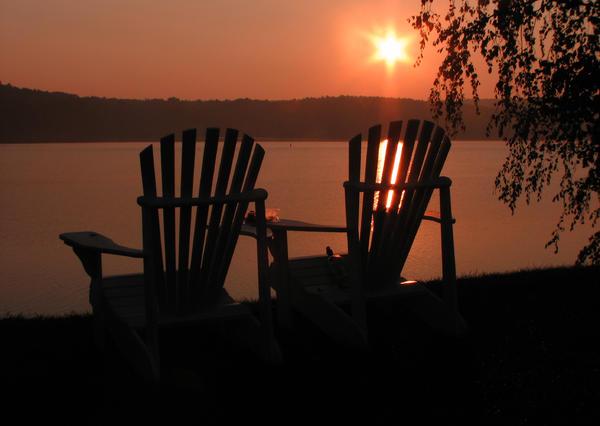 Adirondack Chairs-1 Print by Michael Mooney
