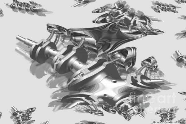 Admin Auto Series No.2 - Fractal Engineering Metallica  Print by Michael C Geraghty