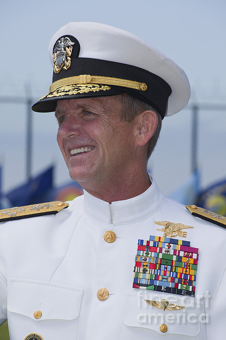 Admiral Eric T. Olson Speaks Print by Michael Wood