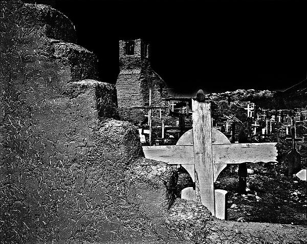 Adobe And The Cross Print by Dennis Sullivan