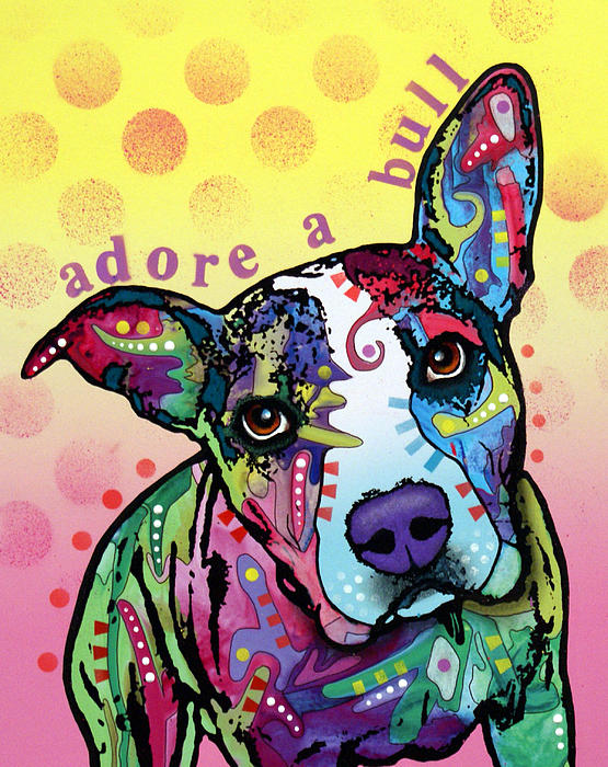 Adoreabull Print by Dean Russo
