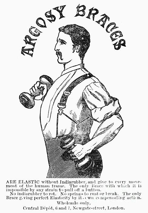 Advertisement: Suspenders Print by Granger