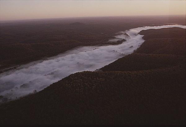 Aerial Of The Buffalo River Print by Randy Olson