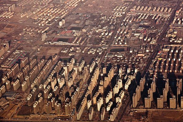 Aerial View Of Beijing Suburb, Tongzhou Distr Print by Jialiang Gao