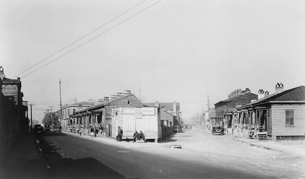 African American Quarter In Savannah Print by Everett