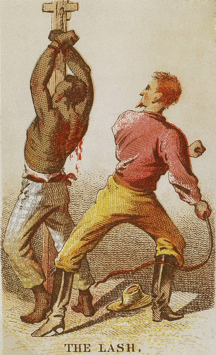 African American Slave Being Whipped Print by Everett