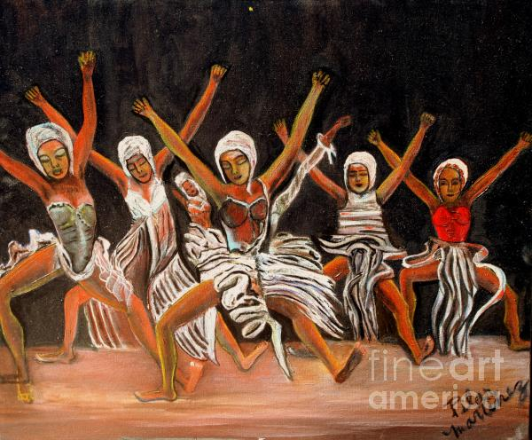African Dancers Painting