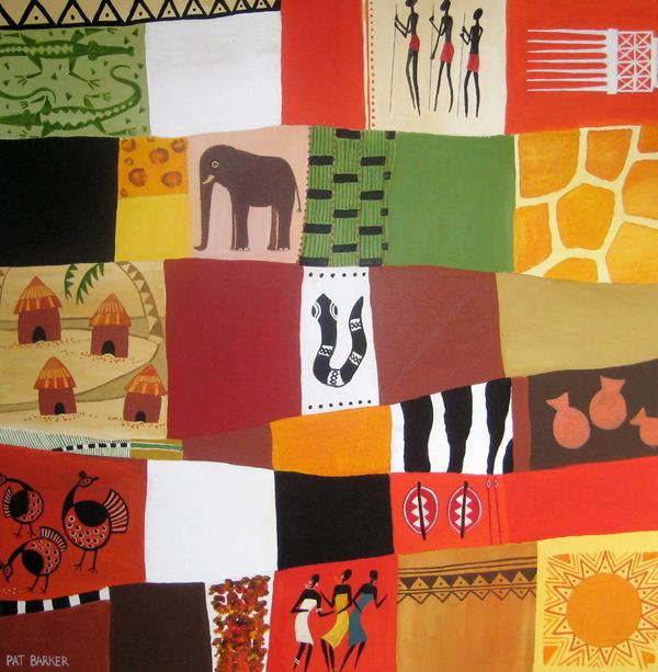 African Matrix Print by Pat Barker