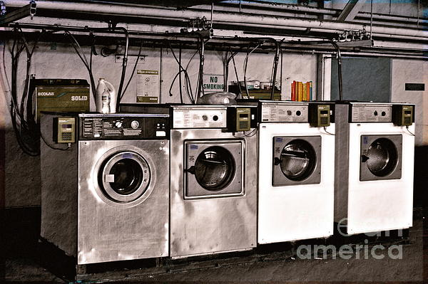 After Enlightenment The Laundry. Print by Gwyn Newcombe