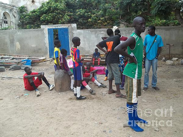 After The Game - Goree Boys Print by Fania Simon