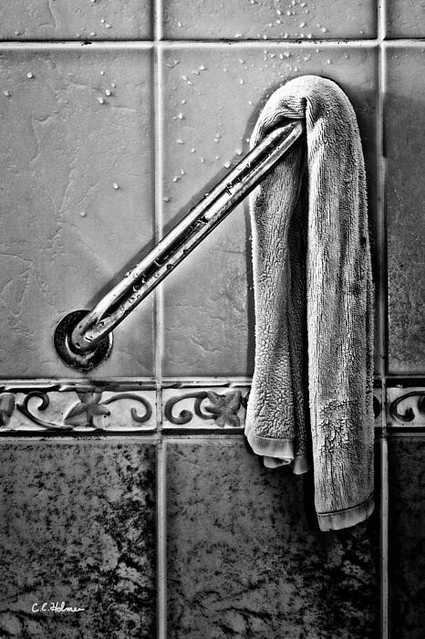 After The Shower - Bw Print by Christopher Holmes