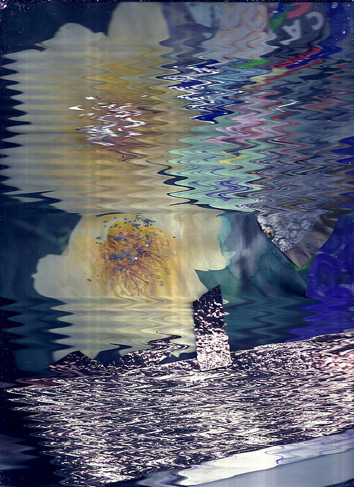 Afternoon Day Dream Collage Print by Anne-Elizabeth Whiteway