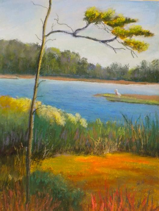 Afternoon On The Creek Painting  - Afternoon On The Creek Fine Art Print