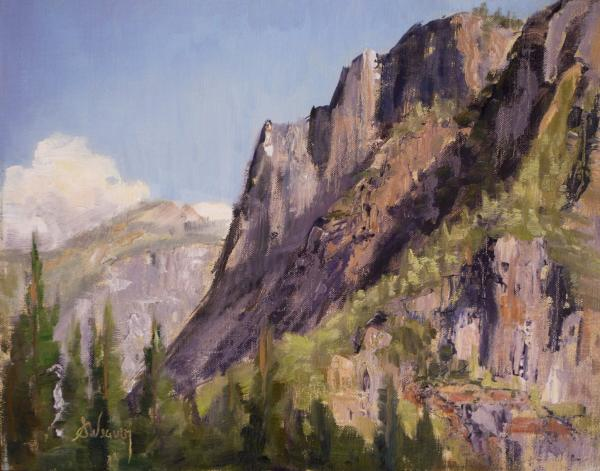 Afternoon Sun On Moran Point Painting  - Afternoon Sun On Moran Point Fine Art Print