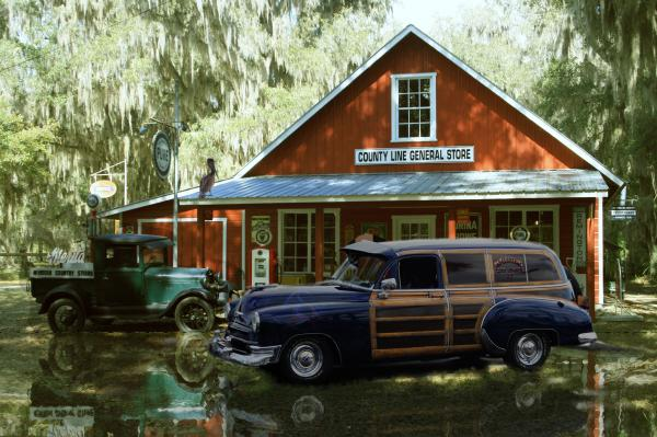Air Brushed Woody At Country Store Print by John Breen