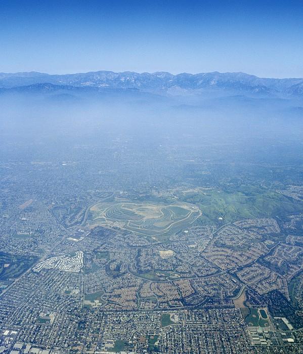 Air Pollution Over Los Angeles Print by Detlev Van Ravenswaay
