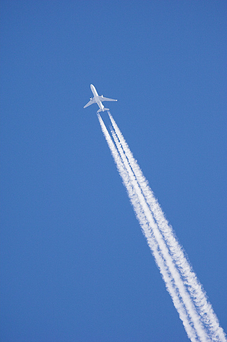 Aircraft Contrail Print by Duncan Shaw