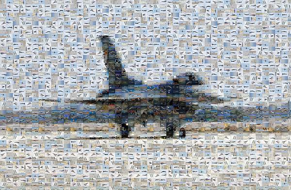Airforce F-4866 Mosaic  Print by Darleen Stry