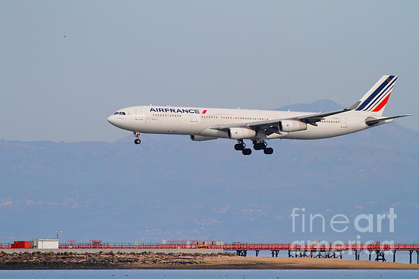 Airfrance Airlines Jet Airplane At San Francisco International Airport Sfo . 7d12219 Print by Wingsdomain Art and Photography