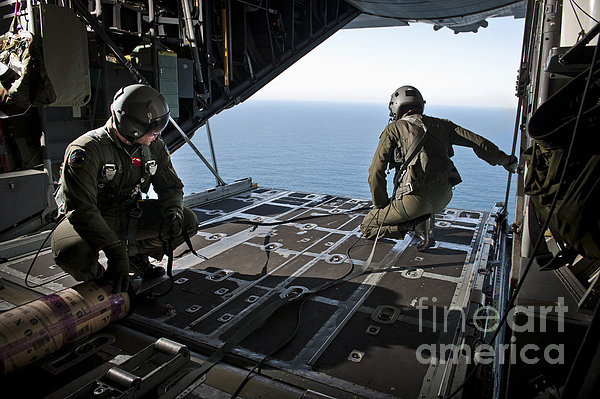 Airmen Wait For The Signal To Deploy Print by Stocktrek Images