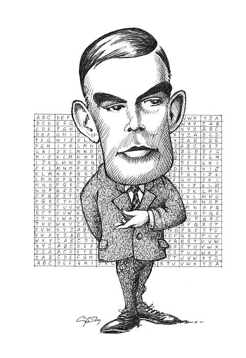 Alan Turing, British Mathematician Print by Gary Brown