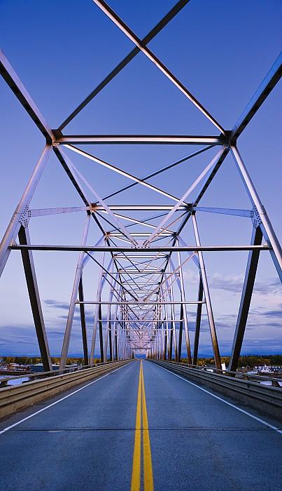 Alaska Native Veterans Honor Bridge Print by Yves Marcoux