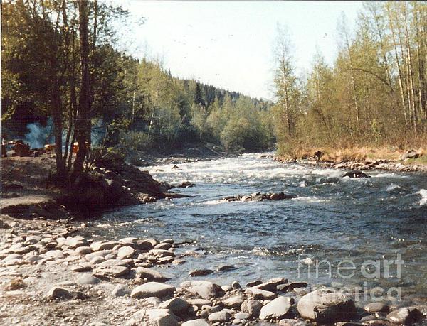 Alaska River Scene Print by Judyann Matthews