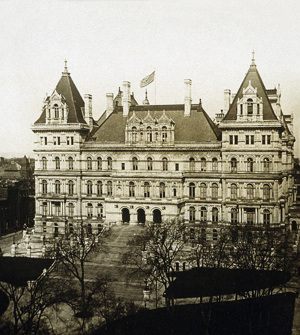 Albany New York - State Capitol Building - C 1900 Print by International  Images