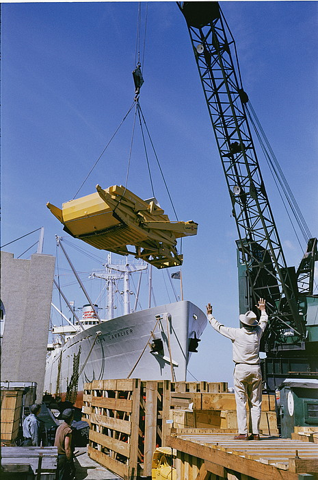 Alcoa Ship Destines For South America Print by Justin Locke
